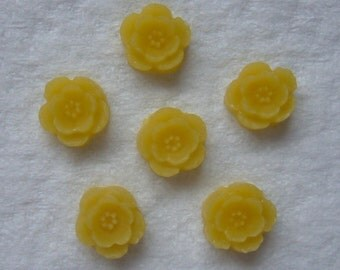 12 yellow 9mm flower cabs