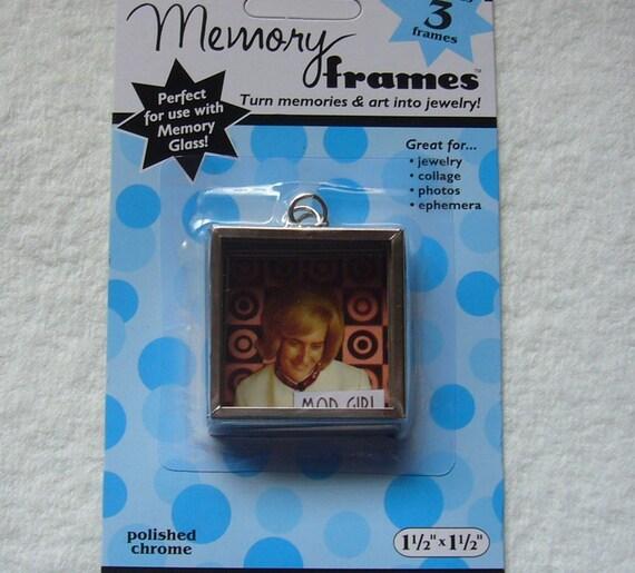 set of 3 memory glass frames 1 5x1 5 chrome