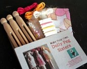 Make Your Own Dolly Peg Sisters- Pink & Yellow