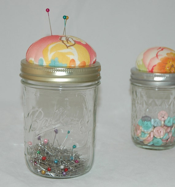 Swanky Catchall Pincushion Jar