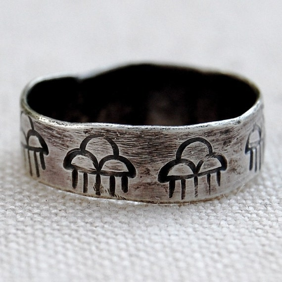 Rainclouds - Sterling Silver Hand Forged Ring