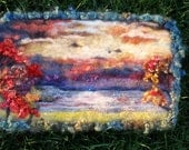 adirondack  autumn  ...sparkling needle felted wool tapestry