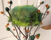 enchanted forest fantasy pincushion tree