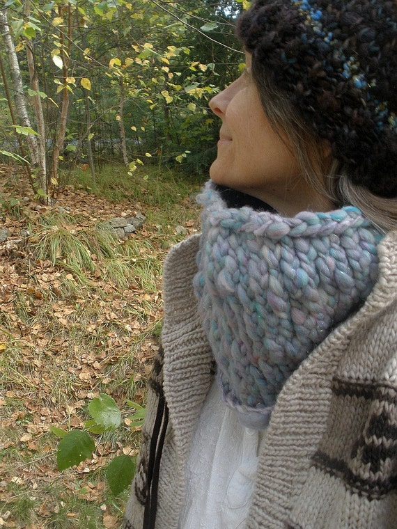 frosty morning - rustic handknit cowl from chilly lands - on sale