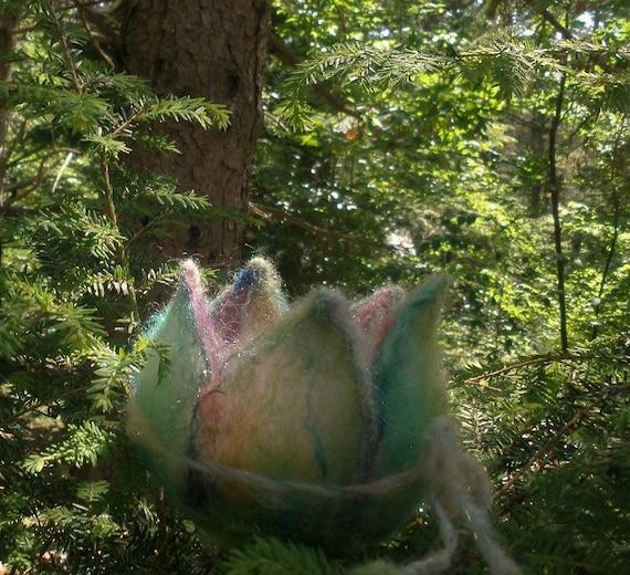 enchanted woodland  fairy nest - sparkling fairy cradle
