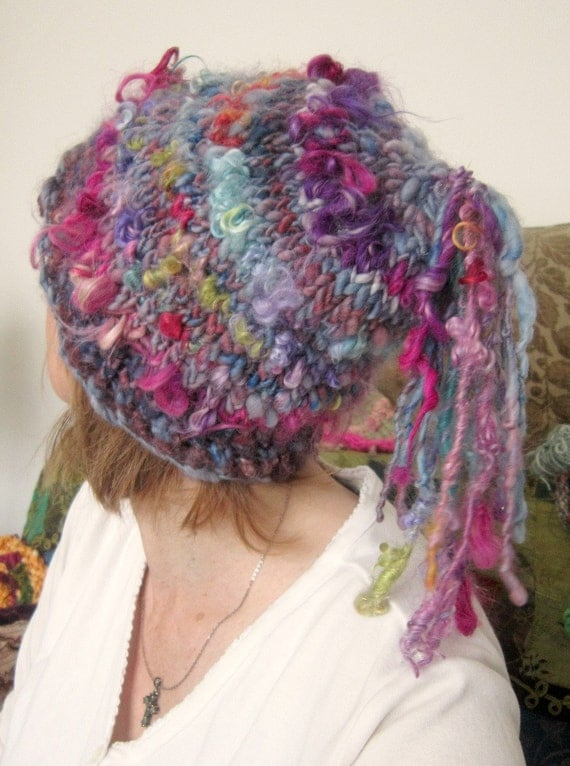 rustic and warm handknit fairy hat - a soft daydream