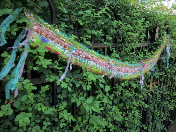 solstice fairy princess - enchanted and sparkling handknit fairy scarf - on sale