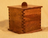 Small Light and Dark Wood Tea Box