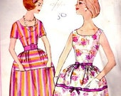 Beautiful 1961 Simplicity Dress Pattern with Interesting Pocket Detail