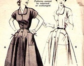 Practical and Stylish 1954 Butterick Dress Pattern