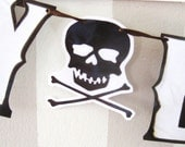Pirate Birthday Banner with Skull and Crossbones- HAPPY B-ARRR-THDAY