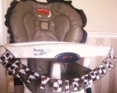 Highchair HAPPY BIRTHDAY Banner - brown and white cow print