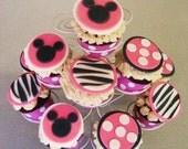 Edible Cupcake Toppers - MiNNIE, Zebra, and Polka Dots