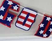 GOD BLeSS AMERiCA Banner - Red, White, and Blue, Stars and Stripes