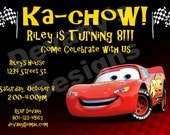 Cars Printable Birthday Invitation - Lightning McQueen Ka-Chow