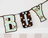 Boy Birth Announcement ITS A BOY banner - Bugs and Polka Dots, bees, dragonflies, ladybugs, butterflies