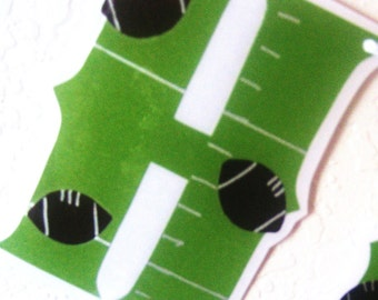 Clearance SALE - Was 20 Now 12 - Football HAPPY BiRTHDAY Banner - Gridiron College or NFL