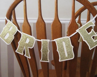 BRIDE and GROOM Chair Banners, Wedding Chair Decor, Reception Chair Banners, Wedding Luncheon Chair Decor, Rehearsal Dinner Chair Decor