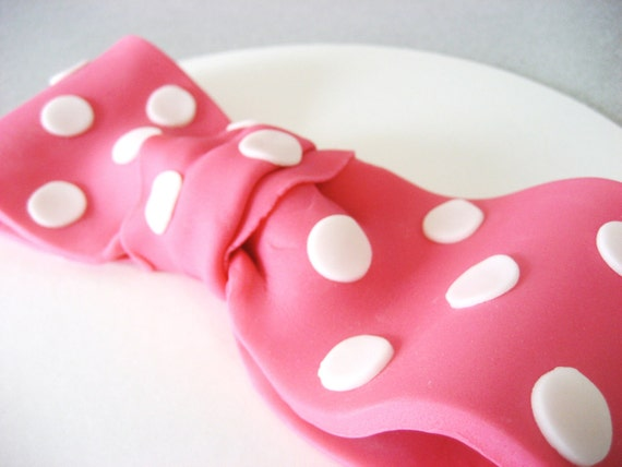 Minnie Mouse Bow Cake Topper, Edible Minnie Mouse Bow, Edible Pink Minnie Mouse Topper, Minnie Mouse Birthday Cake Topper, Minnie Mouse Cake