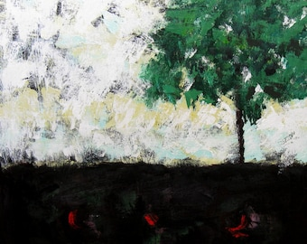 SALE Abstract Landscape Original Acrylic Painting