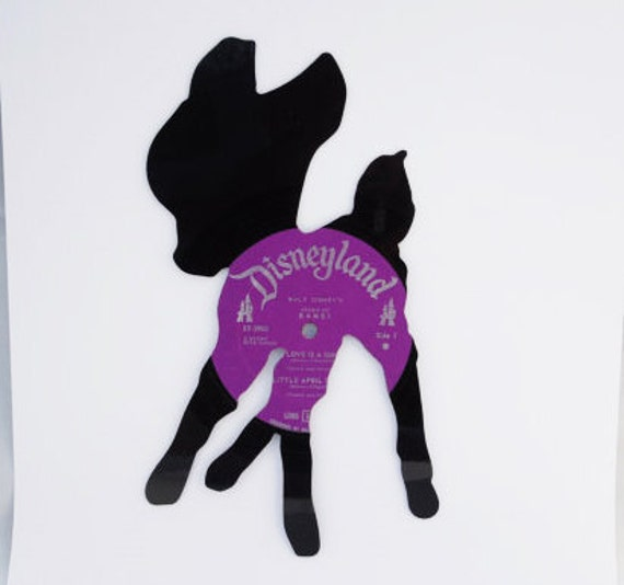 BAMBI silhouette made from vinyl record album