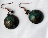 Merlins Silver Domed Earrings.Celtic and Hand Forged.Patina