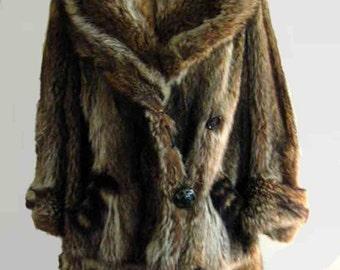 1930's Raccoon Fur Coat