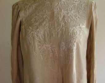 1900's Charming flora embroidered blouse