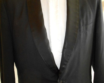 "1960's, 42"" chest, 36"" waist, black tuxedo suit"