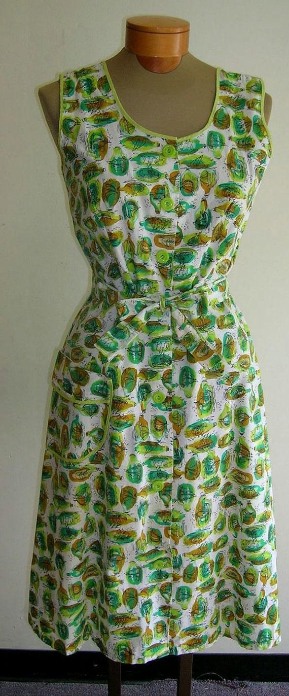 1950's Cotton house dress
