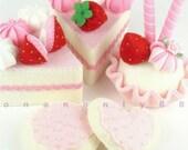 Felt Cake Set Princess Tea Party Dessert Set READY TO SHIP