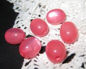 24 pcs 9mm - Vintage lucite moonglow oval bead  (Bead-157-C)