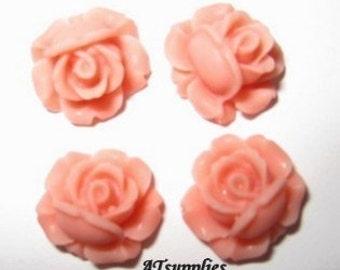 11mm - Lovely Petite rose cabochon - 6 pcs - (CA820-C7)