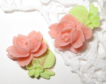 8 pcs -Lovely little rose cabochon (CA076-B)