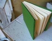 Handbound Ethiopian stitch Green Journal