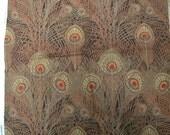 Enchanting Vintage Liberty of London Cotton Fabric Peacock Plumes