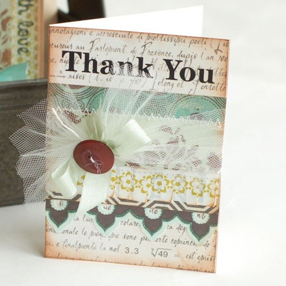 Elegant thank you handmade greeting card for Elegant homemade christmas cards