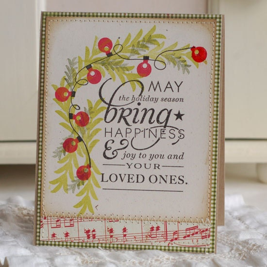 May The Holiday Season Handmade Christmas Greeting Card