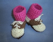 Baby Golf Shoe Booties with Pink Socks