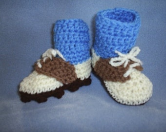 Baby Golf Shoe Booties with Blue Socks