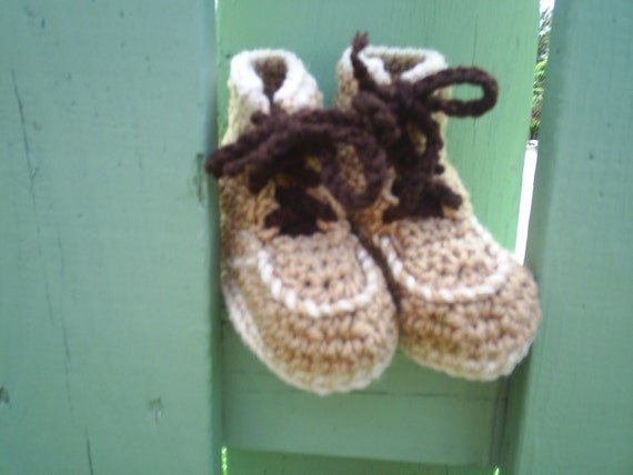Baby Construction Hiking Boots Booties