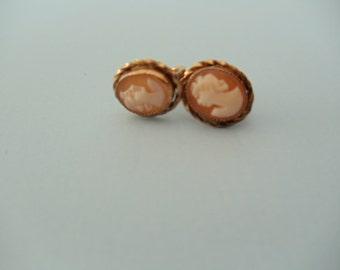 Cameo Earrings 10K Gold Filled