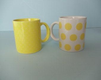 Yellow Matching Mugs