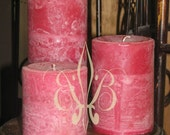 Badan Body Alma Rose and Sandalwood Pillar Candle Set of 3