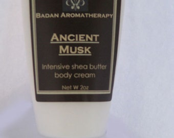 Badan Ancient Musk Intensive Shea Butter Body & Hand Cream,2oz- Rich - Moisturizing