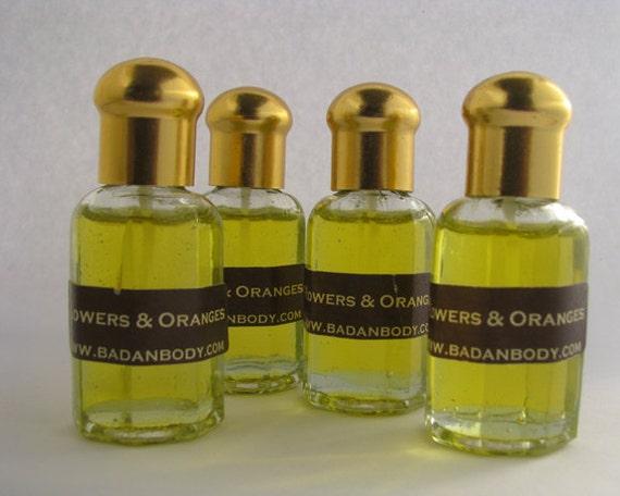 Neroli, Orange Blossom Perfume Oil, Vintage Glass Bottle .5oz