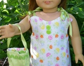American girl doll reversible outfit