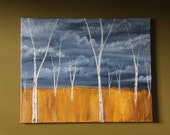 """Calm before the Storm COMMISSION of an original landscape painting signed by artist """"C. Parlett"""""""