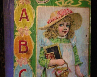 Antique Victorian ABC Story Book