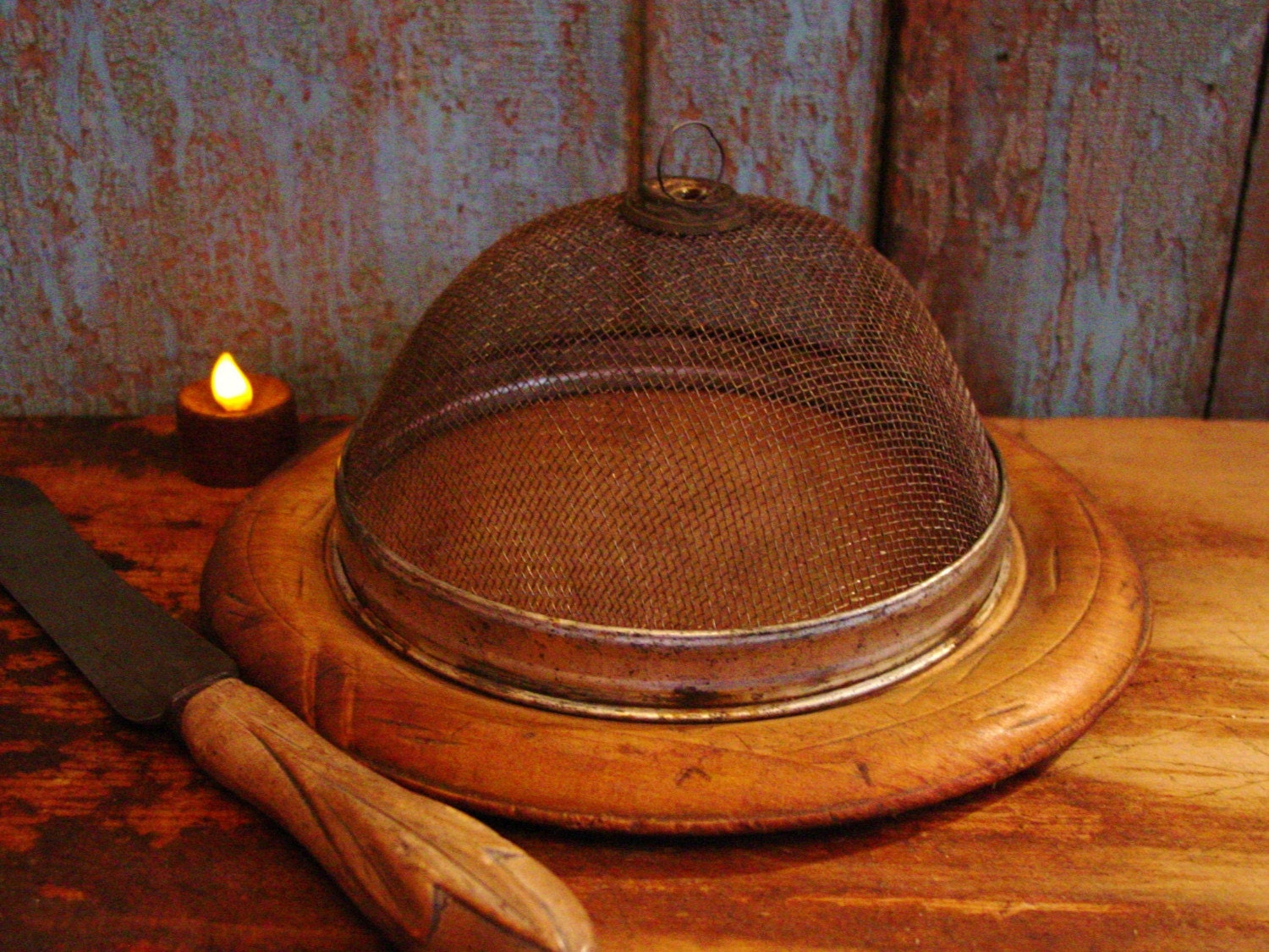 Primitive Kitchen Shoo Fly Screen Food Cover